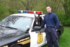 Officer Chris Nugent with K9 Jager, Shelton, CT PD.
